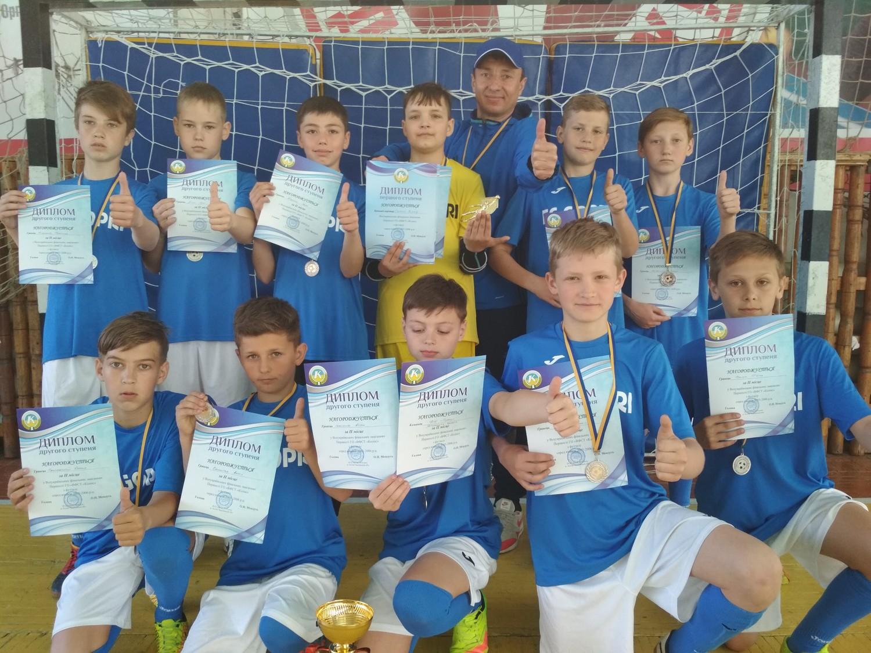 Голопристанські хлопчаки зайняли друге місце у Всеукраїнських змаганнях з футзалу